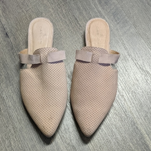 BRAND NEW CASLON James suede mules